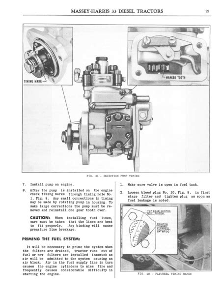 massey harris  diesel tractors instructions  care