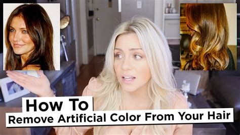 remove color from hair diy how to remove artificial color from your hair
