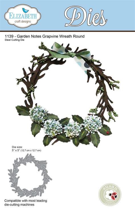 elizabeth craft designs die garden notes grapevine