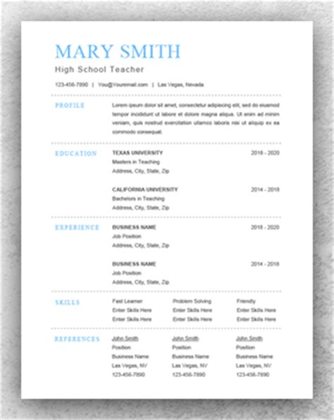 Traditional Resume Exle by Traditional Resume Template Word Resume Template Start