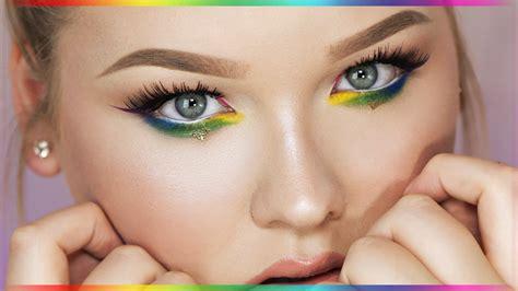 makeup tutorial rainbow eyes nikkietutorials