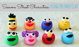 Sesame Street Characters {Using Polymer Clay} Gluesticks