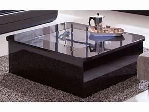 Conforama Table Basse : table basse floyd coloris noir conforama pickture ~ Teatrodelosmanantiales.com Idées de Décoration