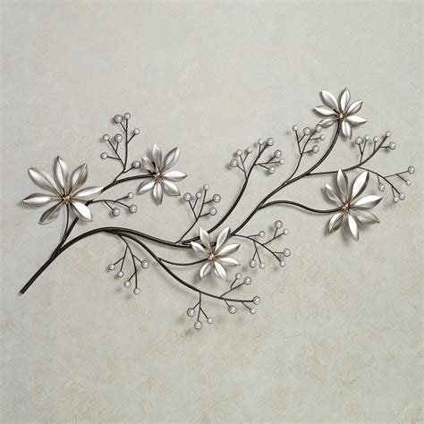 pearl array floral metal wall