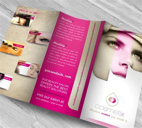 beauty parlour brochures  psd ai indesign
