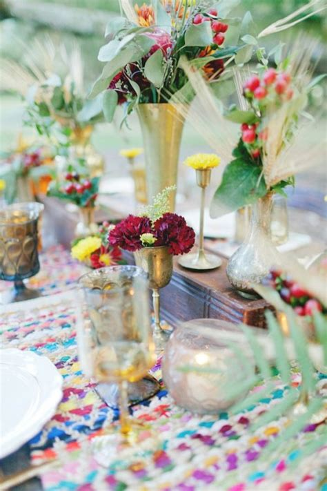 boho chic table ls how to decorate the tables for a boho chic wedding