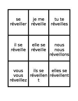 verbes reflechis french reflexive verbs present tense