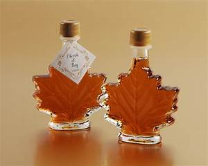 Maple Syrup in Glass Maple Leaf Bottle Favours $5.25 ...