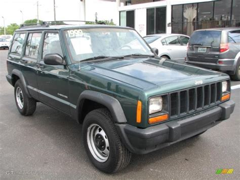 jeep cherokee green 2000 1999 forest green pearl jeep cherokee se 51542280 photo