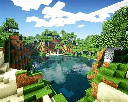 Minecraft Scenery Forest Shader Realistic Gifs Gaming