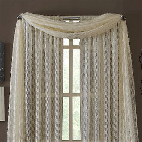 buy kas dash ivory sheer scarf valance  bed bath