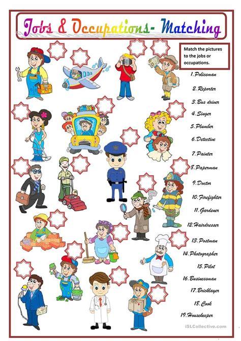 Jobs & Occupations Worksheet  Free Esl Printable Worksheets Made By Teachers