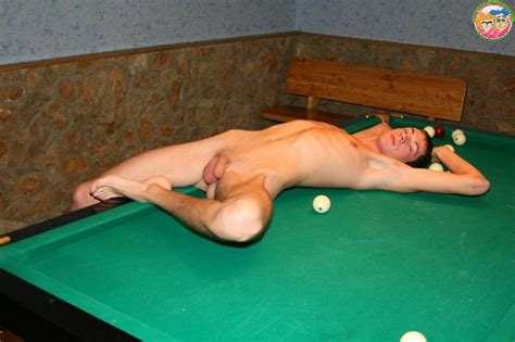 Nude Sandra Orlow On Pool Table