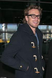 Simon Baker and wife Rebecca Rigg touch down at French ...