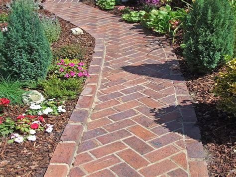 brick patterns patios and pathways herringbone brick path my favorite brick layout front