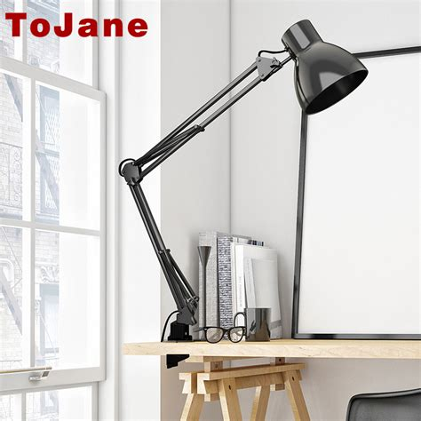 long swing arm desk l tojane tg801 long swing arm desk l led table l