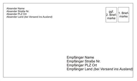 briefe beschriften post  briefmarken