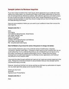 free credit repair letters templates - how to remove credit inquiries letter example
