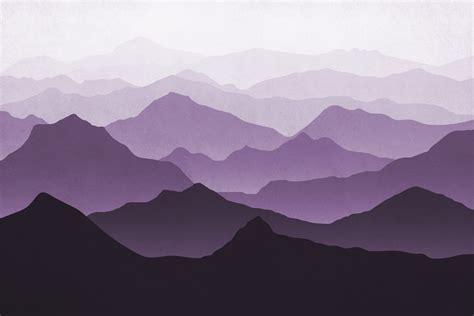 buy purple mountains ii wall mural   shipping
