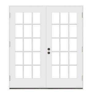 jeld wen 72 in x 80 in steel white right handed outswing