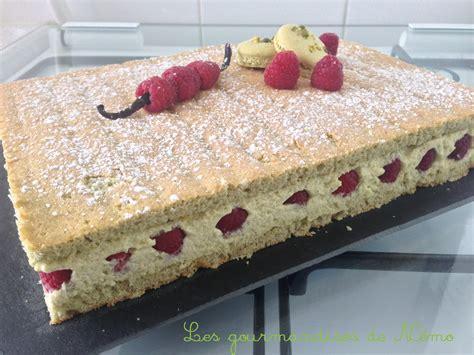 dessert de fete facile framboisier pistache les gourmandises de n 233 mo