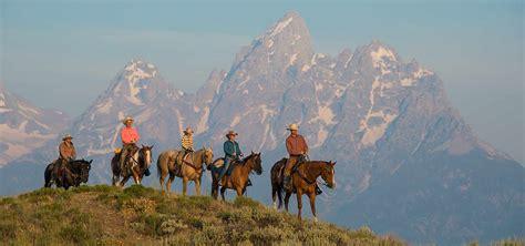 riding horseback hole jackson wyoming grand teton national park traveler tweet ranches camping
