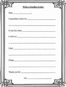 grief and loss worksheets writing a letter to the person With letter writing kit for adults