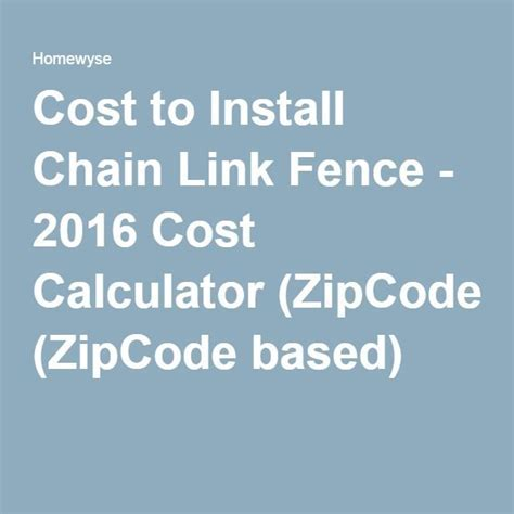 Cost to Install Chain Link Fence   2016 Cost Calculator