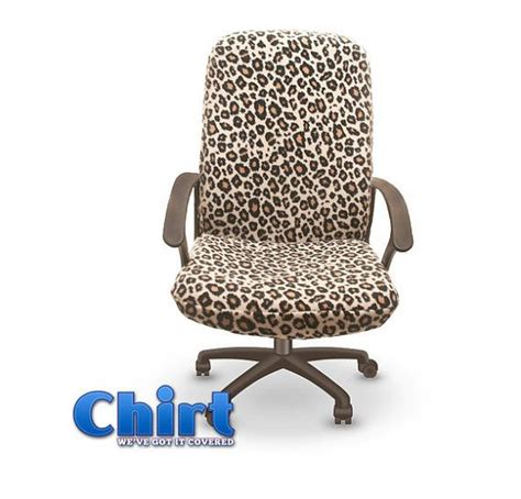 leopard print chirt chair shirt custom office chair