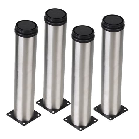 adjustable metal table legs silver 50 x 250mm cabinet metal legs adjustable stainless