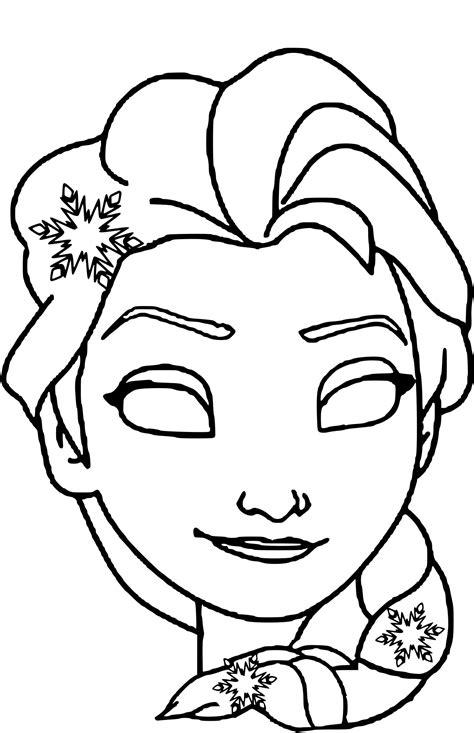 Coloriage Masque Elsa Imprimer Sur Coloriages En Masque