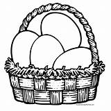Easter Coloring Pages Baskets Basket Templates Sheets Egg Colour sketch template