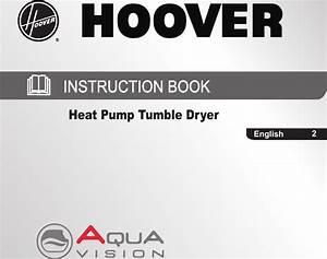 Hoover Tumble Dryer Heat Pump Dnhd913a2c Instruction