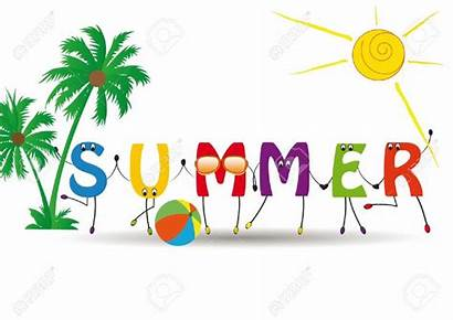 Summer Clip Word Letters Funny Clipart Clipartion