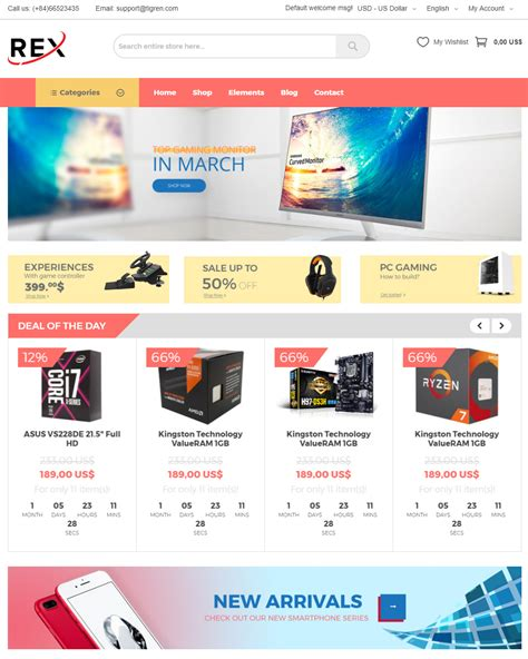 Ecommerce Themes 100 Free Magento Ecommerce Responsive Themes 2018