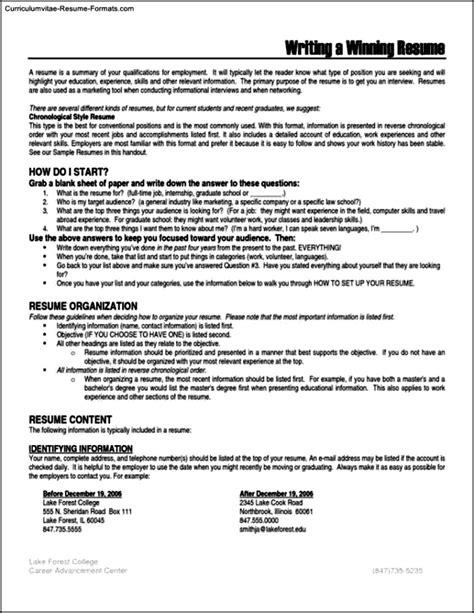 16932 winning resume templates winning resumes templates free sles exles