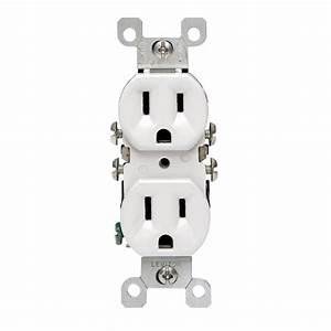 Leviton 15 Amp Duplex Co  Alr Outlet  White