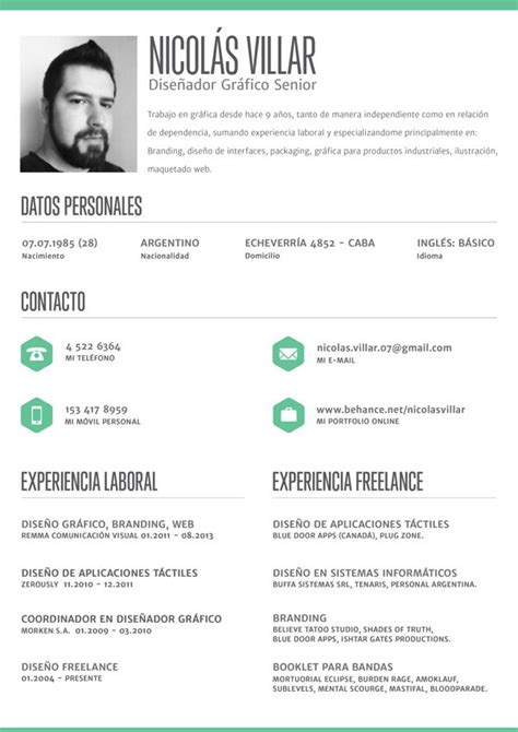 Curriculum Vitae Layout by Clean Crisp Resume Layout By Nicol 225 S Villar Via Behance