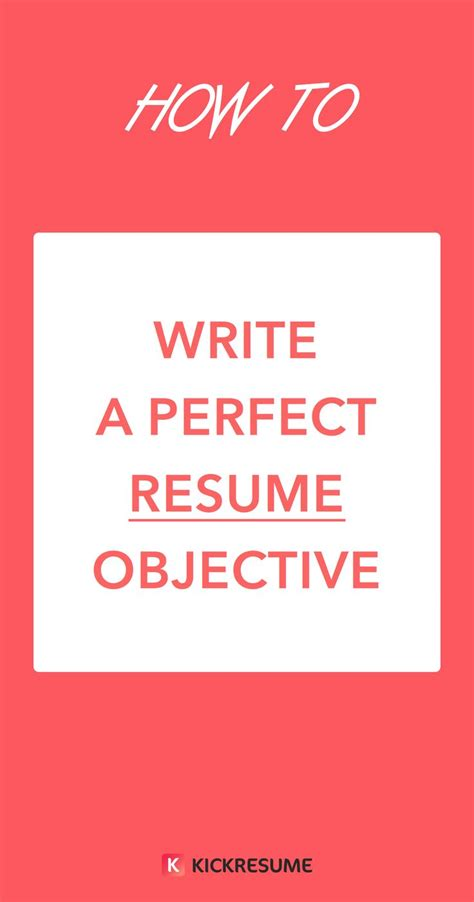 How To Write Your Objective On A Resume by Best 25 Resume Objective Ideas On