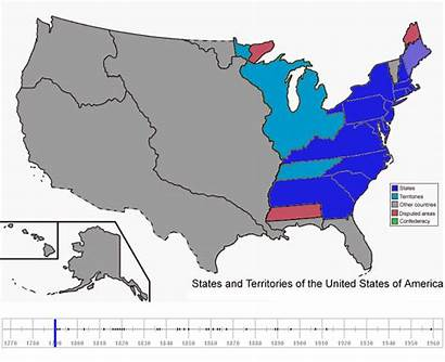 Unidos Estados Usa Stany Staaten Mapas Animados