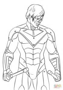 the nightwing coloring page free printable coloring pages
