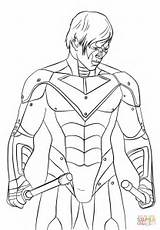 Nightwing Coloring Pages Printable Drawing Colorings Through Getdrawings Getcolorings Paper sketch template