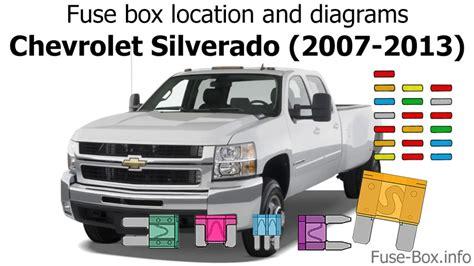 Fuse Box Location Diagrams Chevrolet Silverado