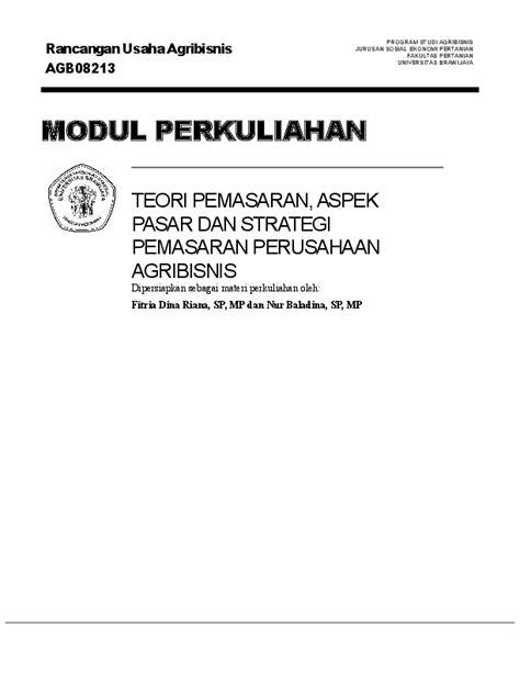(DOC) Rancangan Usaha Agribisnis AGB08213 PROGRAM STUDI