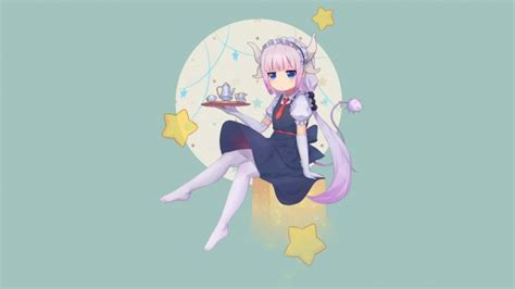 wallpaper kobayashi san chi  maid dragon kanna kamui