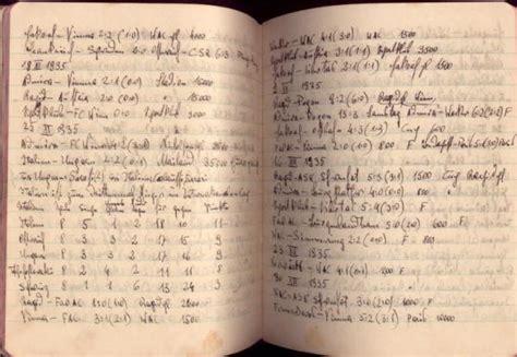 1932-1939 Europe Football League Soccer Notebook Ink ...