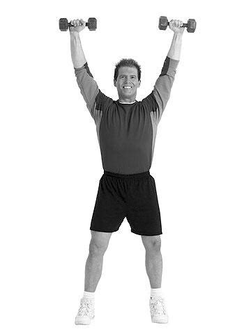 chair  dumbbell workout advanced