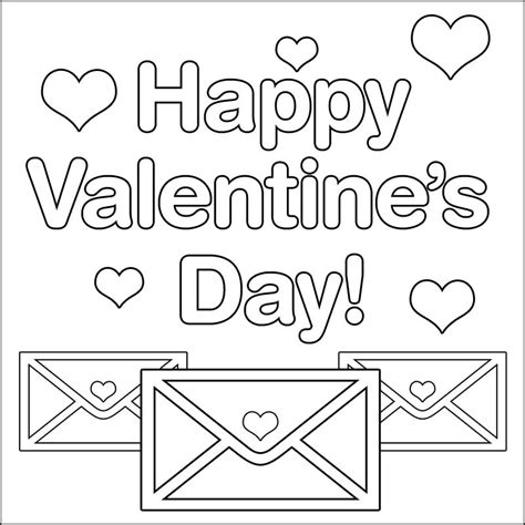 valentines day coloring pages    print