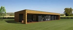 Maison Ossature Bois Toit Plat : maison bois en kit toit plat ~ Melissatoandfro.com Idées de Décoration