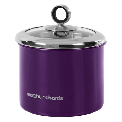 morphy richards plum kitchen accessories morphy richards accents small storage canister plum 9290